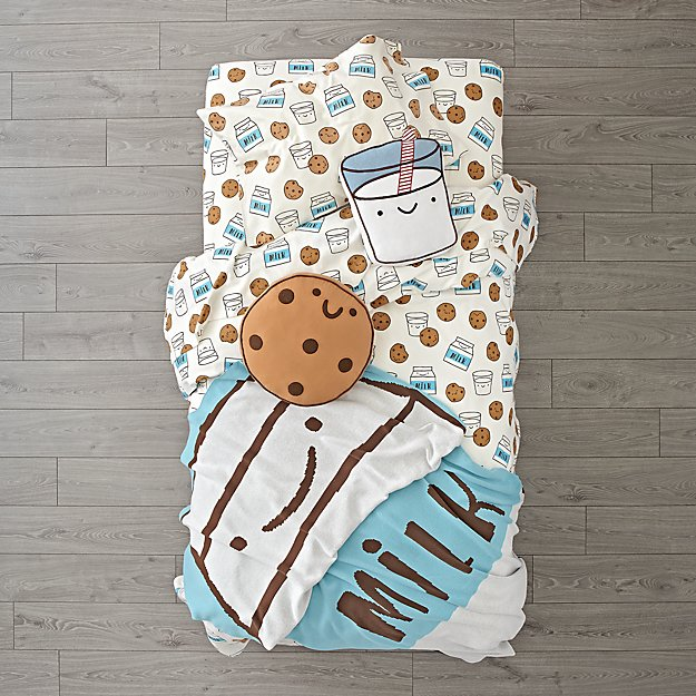 Organic Milk and Cookies Flannel Bedding