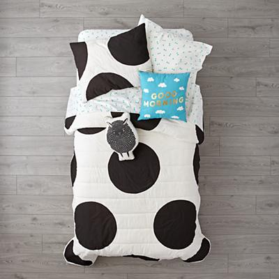 Kids_Bedding_Polka_Dot_Black_LL