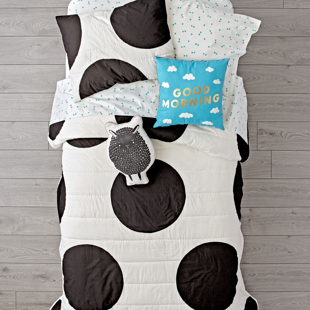 White Polka Dot Bedding