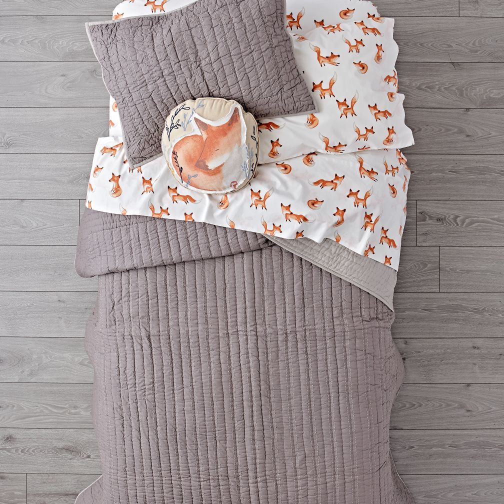 Stitched Grey Blanket