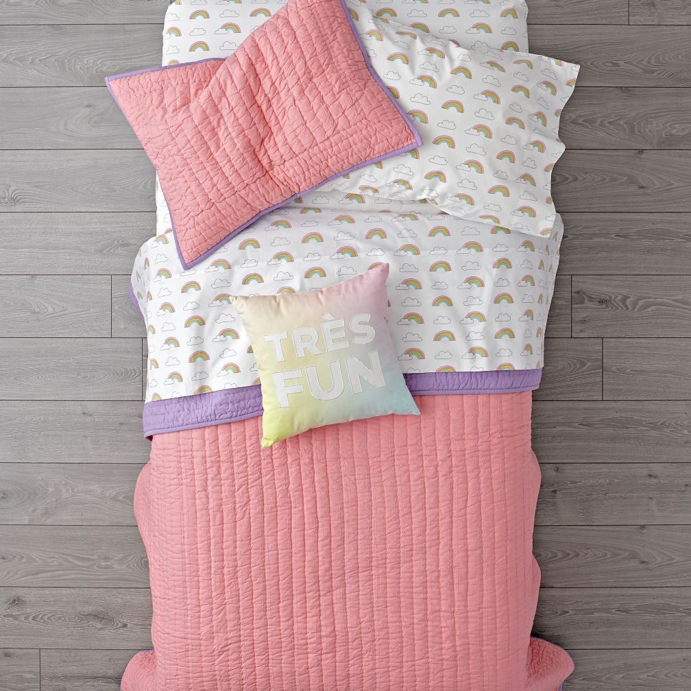 Stitched Pink Blanket
