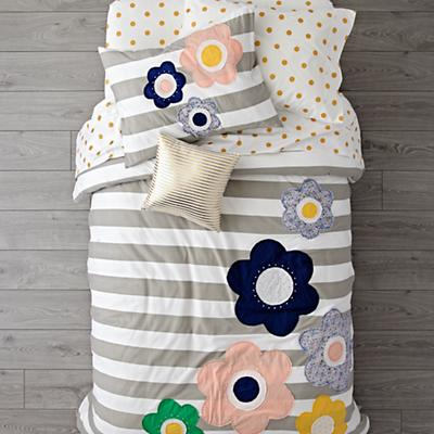 Kids_Bedding_Striped_Flowers_Grey_SP