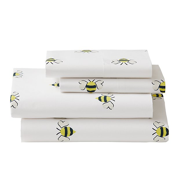 Organic Bee's Knees Queen Sheet Set