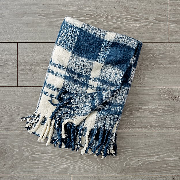 Plaid Fringe Blanket