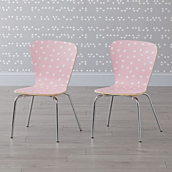 Set of 2 Little Felix Pink Confetti Kids Chair