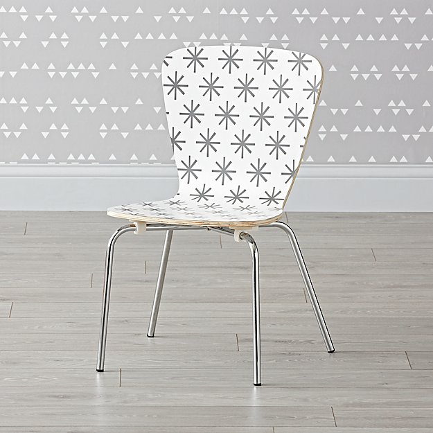 Little Felix Grey Stars Kids Chair