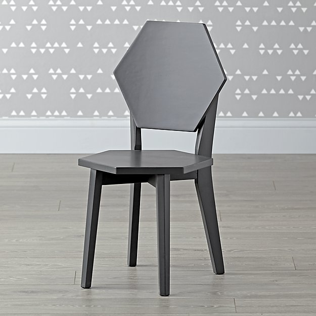 Polygon Charcoal Kids Chair