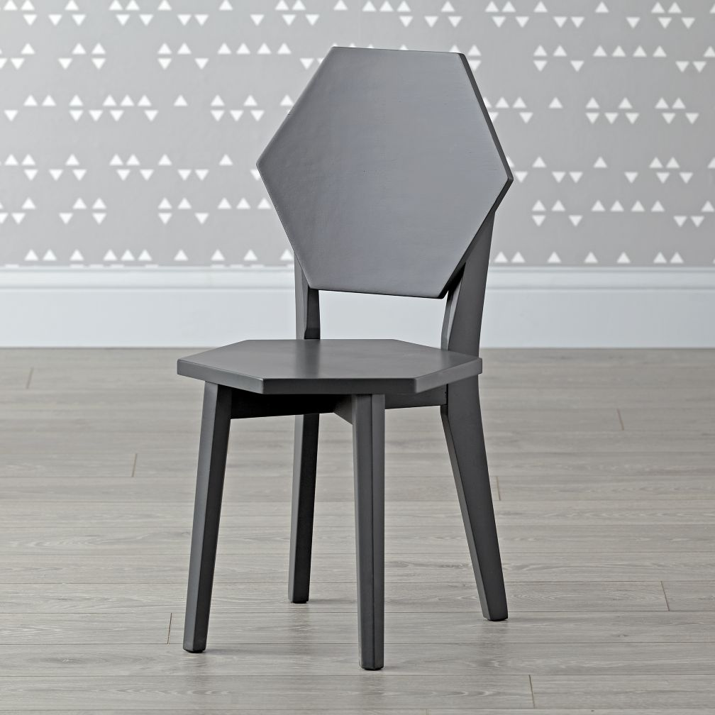 Polygon Charcoal Kids Chairs