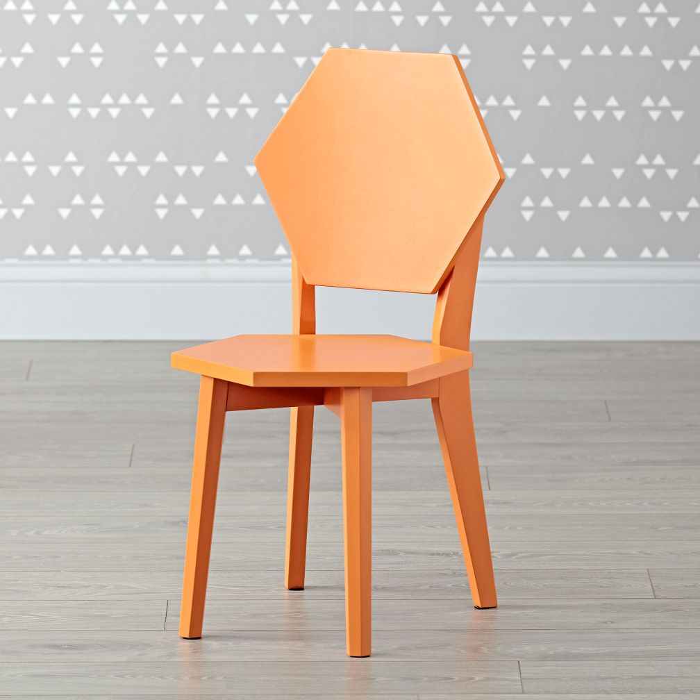 Polygon Orange Kids Chairs