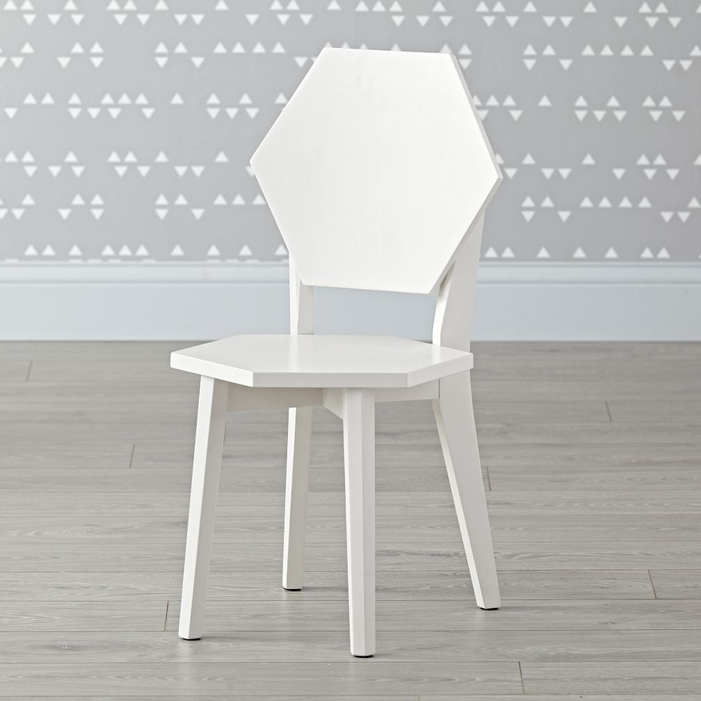Polygon White Kids Chairs