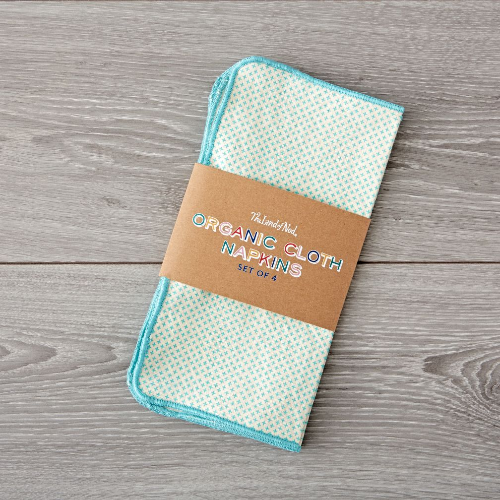 Organic Aqua Cloth Napkins (Set of 4)