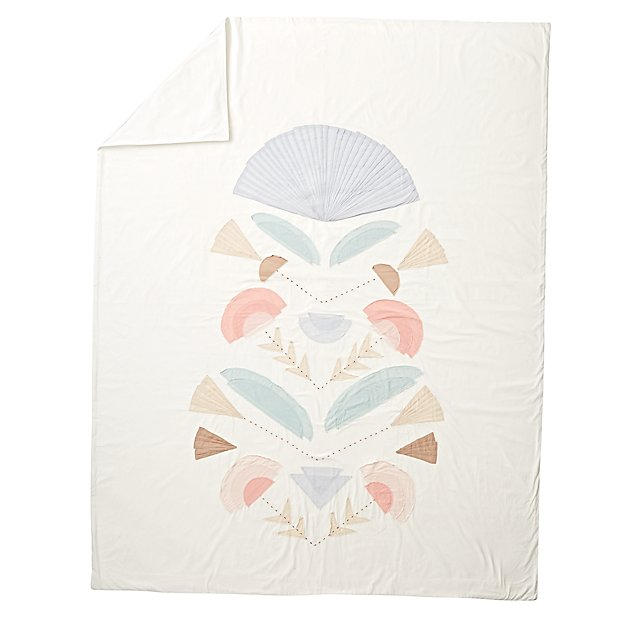 Desert Flora Embroidered Twin Duvet Cover
