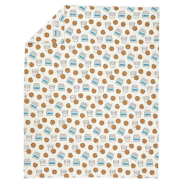 Organic Milk and Cookies Flannel Twin Duvet Cover