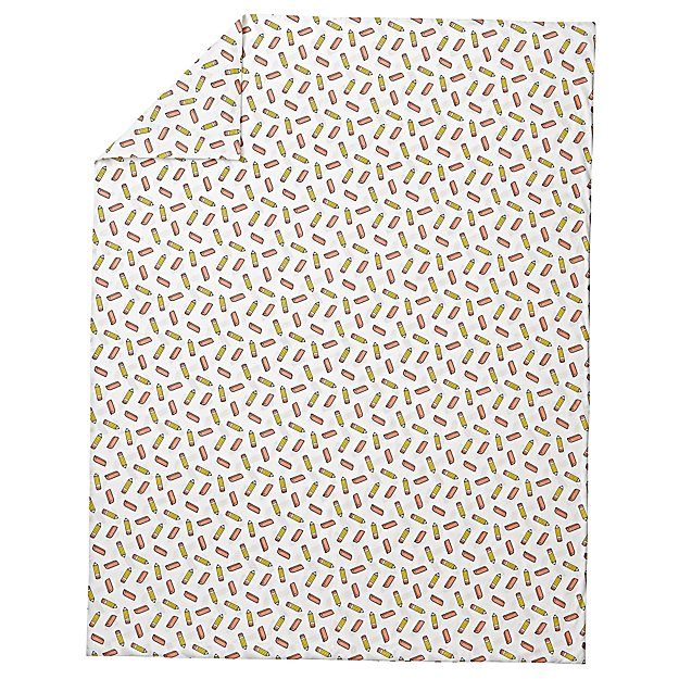 Organic School Supplies Twin Duvet Cover