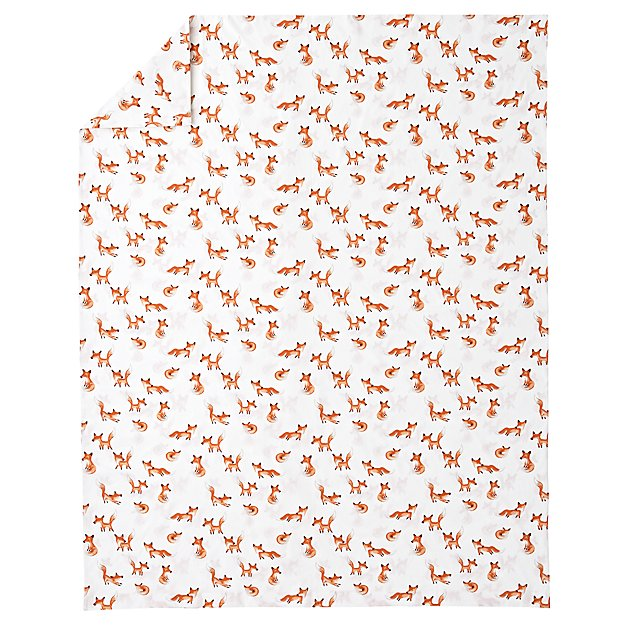 Organic Fox Twin Duvet Cover