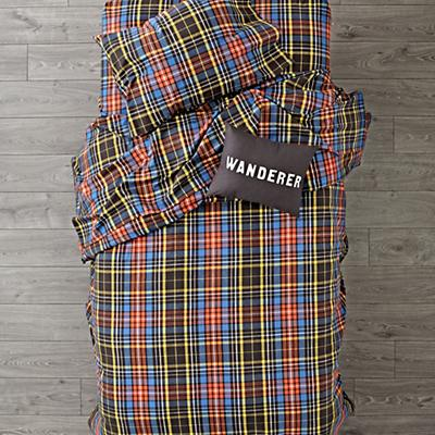 Kids_Flannel_Bedding_Plaid_Black_SP