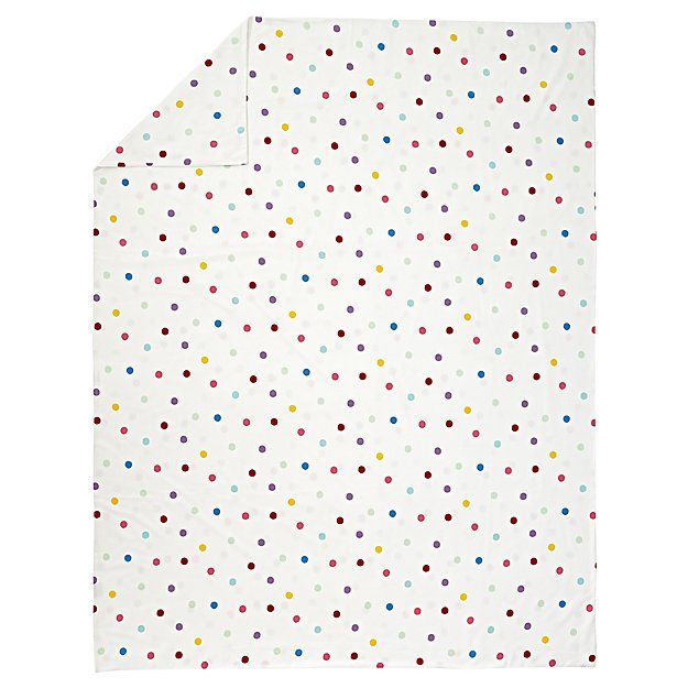 Polka Dot Flannel Full-Queen Duvet Cover
