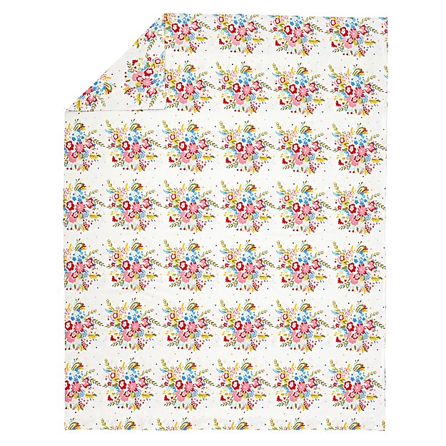 Floral Flannel Full-Queen Duvet Cover