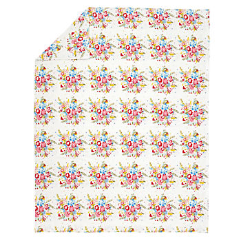 Floral Flannel Twin Duvet Cover