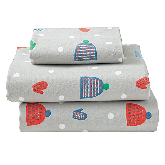 Snow Day Flannel Twin Sheet Set