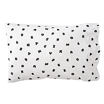 Organic Easy as ABC Jersey Pillowcase