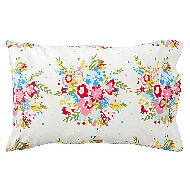 Floral Flannel Pillowcase