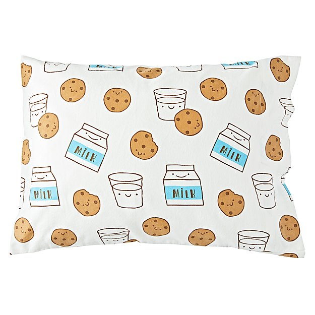Organic Milk and Cookies Flannel Pillowcase