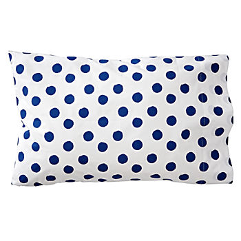 Organic Apple Orchard Blue Dot Pillowcase