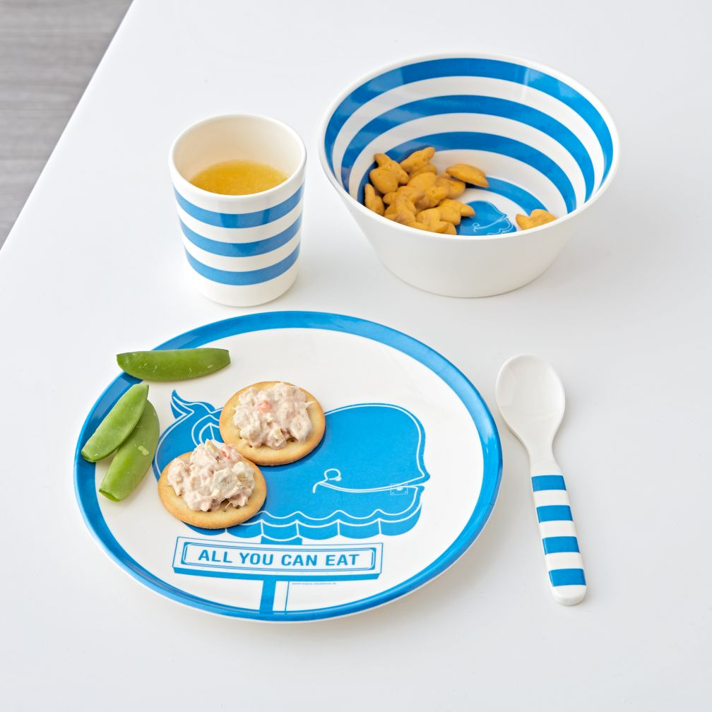 Blue Whale Melamine Mealtime Set