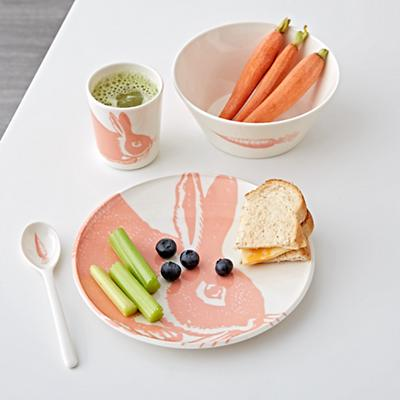 Kids_Plate_Melamine_Pink_Bunny_LL