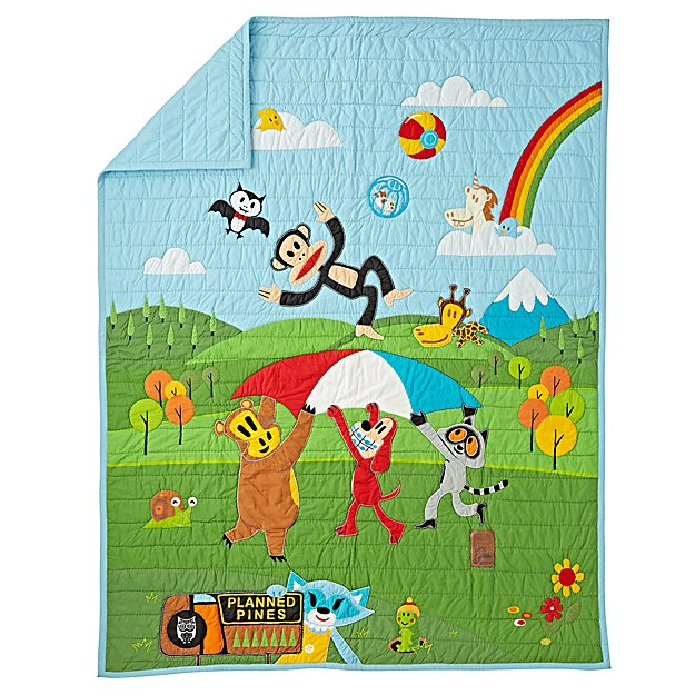 Paul Frank Friends by Land Twin Quilt