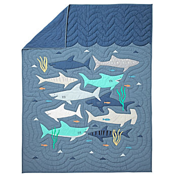 Shark Bait Twin Quilt