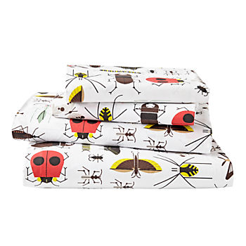 Organic Charley Harper Bug Full Sheet Set