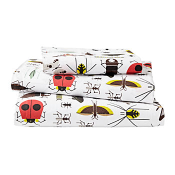 Organic Charley Harper Bug Twin Sheet Set
