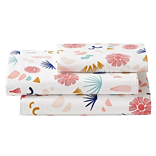Organic Desert Flora Twin Sheet Set