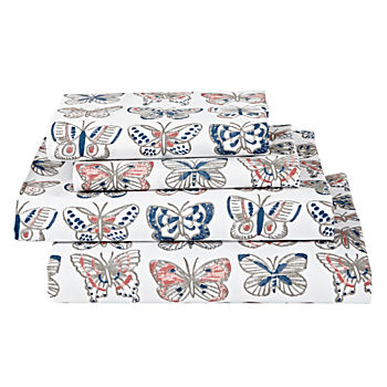 Organic Butterfly Full Sheet Set