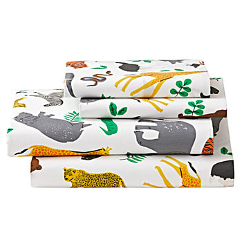 Organic Jungle Animal Full Sheet Set