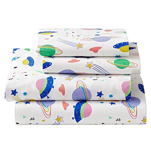 Organic Out of This World Space Queen Sheet Set