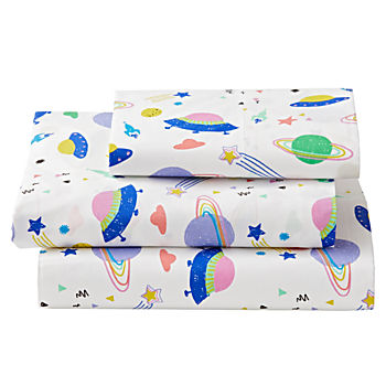Organic Out of This World Space Twin Sheet Set