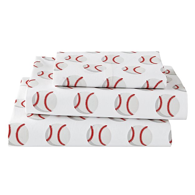 Organic Nod Baseball Twin Sheet Set