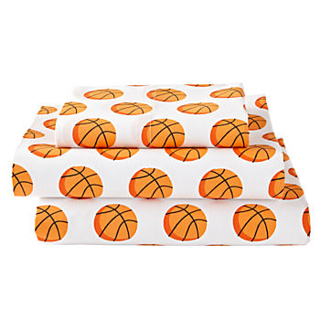 Organic Nod Basketball Twin Sheet Set