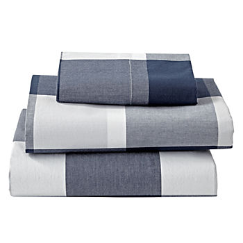 Genevieve Gorder Organic Plaid Twin Sheet Set