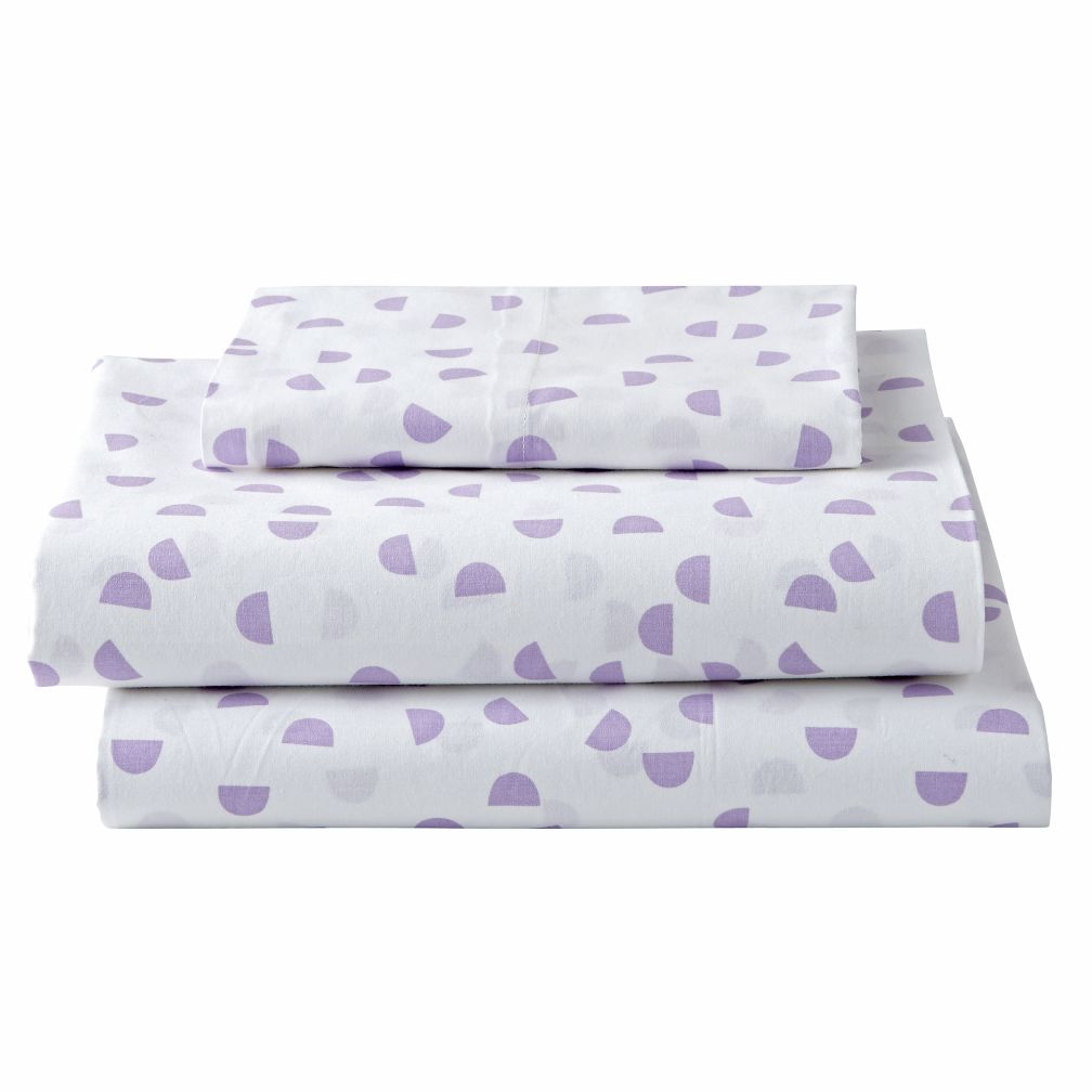 patterned purple sheets twin  the land of nod -