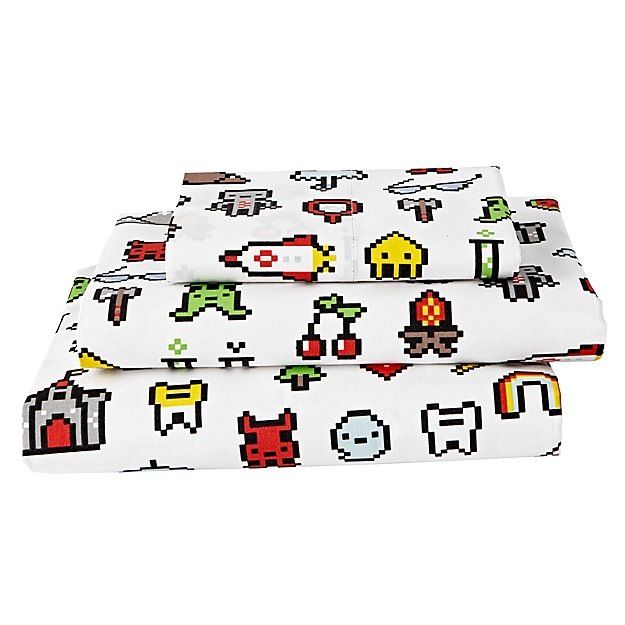 Organic Video Game Twin Sheet Set