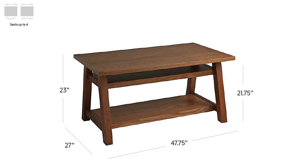 woodstock brown kids table dimensions
