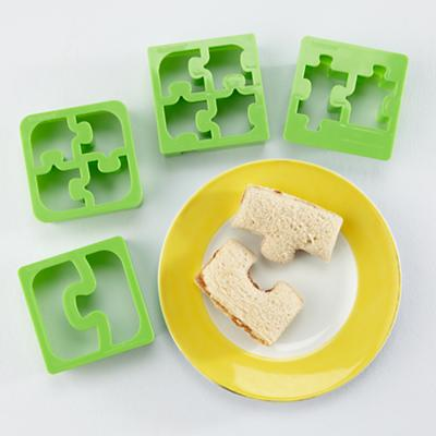 Hold the Crust Puzzle Sanwich Cutters