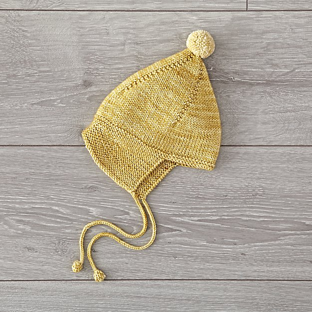 Misha and Puff Yellow 0-6 Months Knit Hat