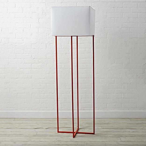 Pop Wire Orange Floor Lamp ... - Orange Pop Wire Floor Lamp The Land Of Nod
