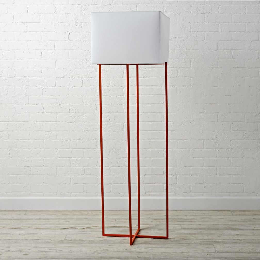 Pop Wire Orange Floor Lamp