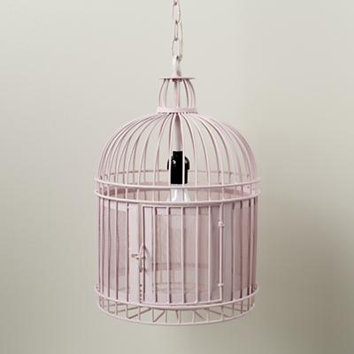 Like a Bird in a Cage Pendant Lamp (Pink)